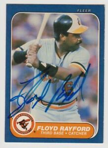 Floyd Rayford 1986 Fleer #283 Autographed Signed Orioles