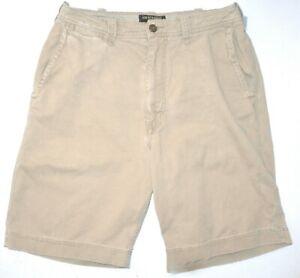 Mens-32-Abercrombie-amp-Fitch-Zipper-Fly-Cotton-Khaki-Casual-Shorts