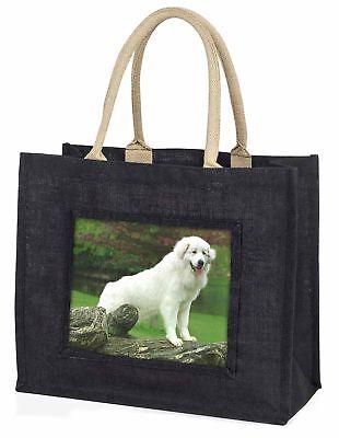 Pyrenäischer Mountain Hund große schwarze Einkaufstasche