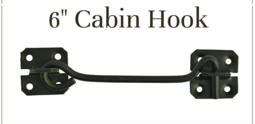 "6/"" Cabin Hook 150mm Black for Garden Gates and Sheds  UK"