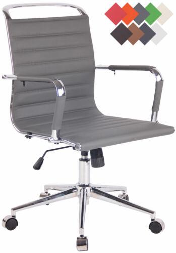 Bürostuhl Barton Kunstleder Schreibtischstuhl Echtleder höhenverstellbar