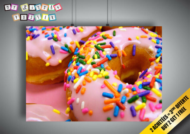 Donuts 3D Smashed Wall Sticker Decal Kitchen Home Decor Art Mural J1032