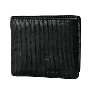 a555ade7c1a6 Details about Dsquared2 Men's Black Textured Leather Bifold Wallet