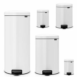 brabantia newicon treteimer m lleimer 3 30 liter in wei tonne abfalleimer ebay. Black Bedroom Furniture Sets. Home Design Ideas