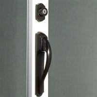 Storm Door Pull Handle & Lock Set In Black 1-1/4 Inch Thick Door
