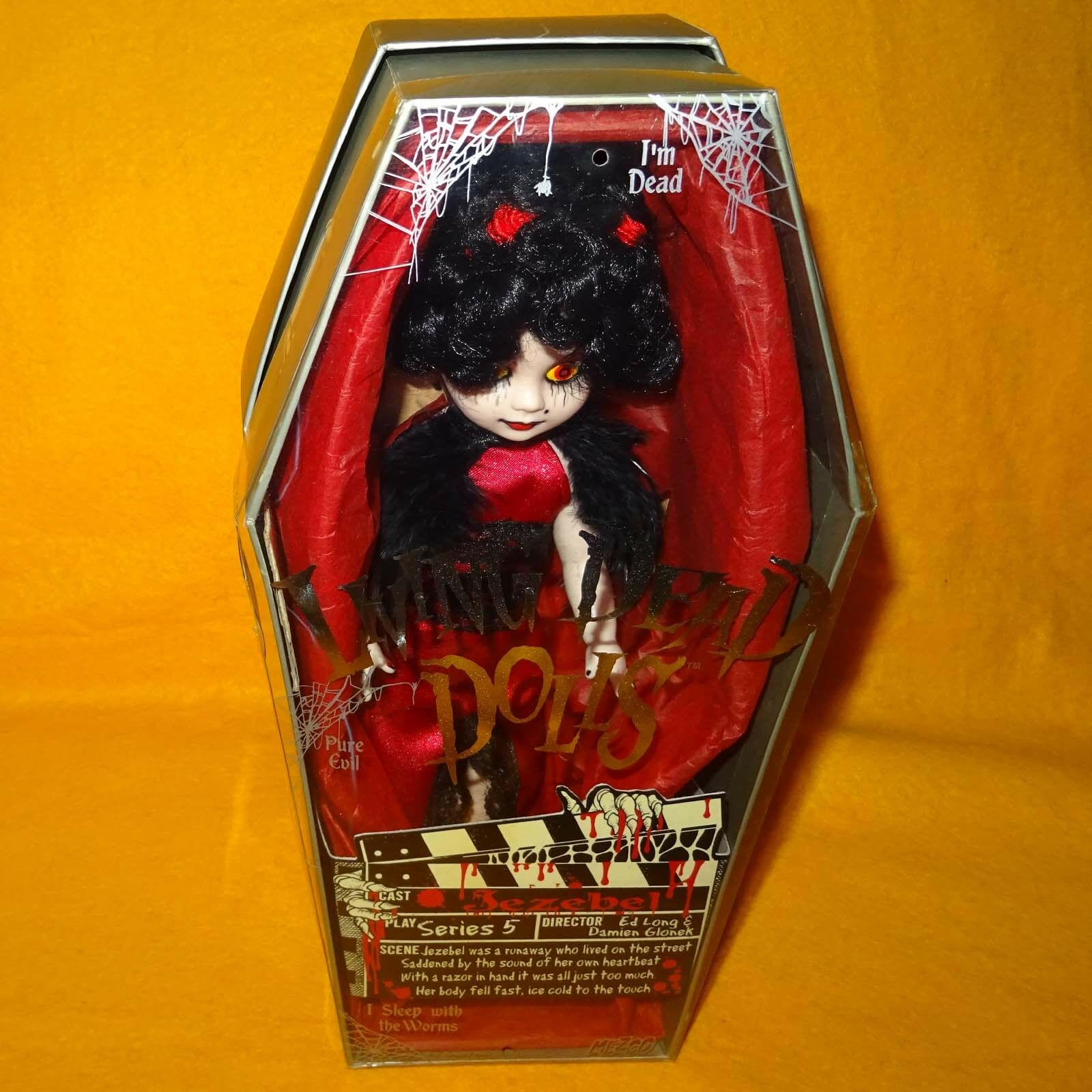 LIVING DEAD DOLLS SERIES 5 JEZEBEL 10  GOTHIC FIGURE COMPLETE BOXED RARE