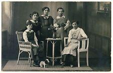 SPIELZEUG PLÜSCHTIER STORCH PUPPE DOLL STORK PLUSH DOG TOYS Vintage 20s Photo PC
