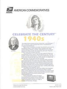 562-33c-Celebrate-the-Century-3186-1940-039-s-Stamp-Panel