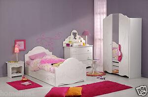 Details Zu Madchen Kinderbett Hochbett Kinderzimmer Komplett Weiss Schrank Bett Tisch Alice1