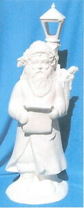 "22 1/2"" VICTORIAN SANTA WITH LAMPOST CERAMIC BISQUE CHRISTMAS U-PAINT"