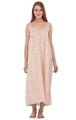 Zuversichtlich Printed 100% Pure Cotton Sleeveless Nightdress | Cotton Lane Wohltuend FüR Das Sperma