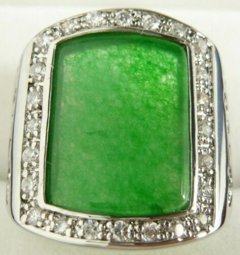 Cristal incrustation Agate TIGER/'S EYE MOONSTONE Emerald Gemstone Ring Taille 8 9 10 11