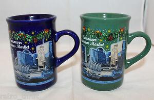 Vancouver Christmas Market Mug.Details About Vancouver Christmas Market 2 Coffee Tea Mug Cups Canada Koessinger Ag Germany