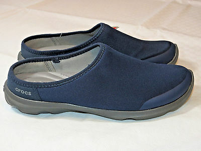 Womens crocs BusyDay 2.0 Satya Mule Navy Graphit shoes W 7 W7 Standard Fit NWT*^