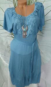 9Monate-Maternity-Dress-Dress-Maternity-Dress-Size-40-Blue-with-Lace-720