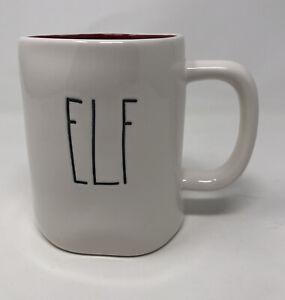 Rae-Dunn-Christmas-ELF-Mug-Ivory-And-Red-Inside-Holidays-NEW-LL