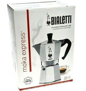 GENUINE BIALETTI 6 CUP MOKA EXPRESS Espresso Stovetop Coffee Maker Percolator
