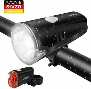 LED-Fahrradlicht-Fahrradbeleuch-StVZO-Zugelassen-FrontlichtRuecklicht
