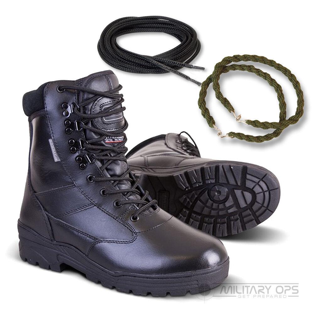 Patrol Kampf Vollleder Armee Stiefel Kadett Twists