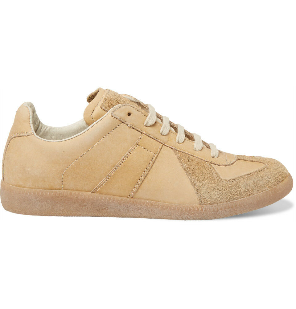 990 Maison Margiela Replica Camel Leather Sneakers Brown GAT German Army Brown