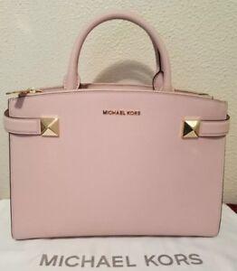 84026bb07622 NWT Authentic Michael Kors Pink Karla Medium EW Blossom Satchel ...