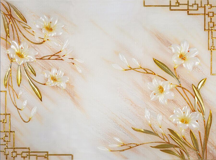 3D Elegant Flowers 608 WallPaper Murals Wall Print Decal Wall Deco AJ WALLPAPER