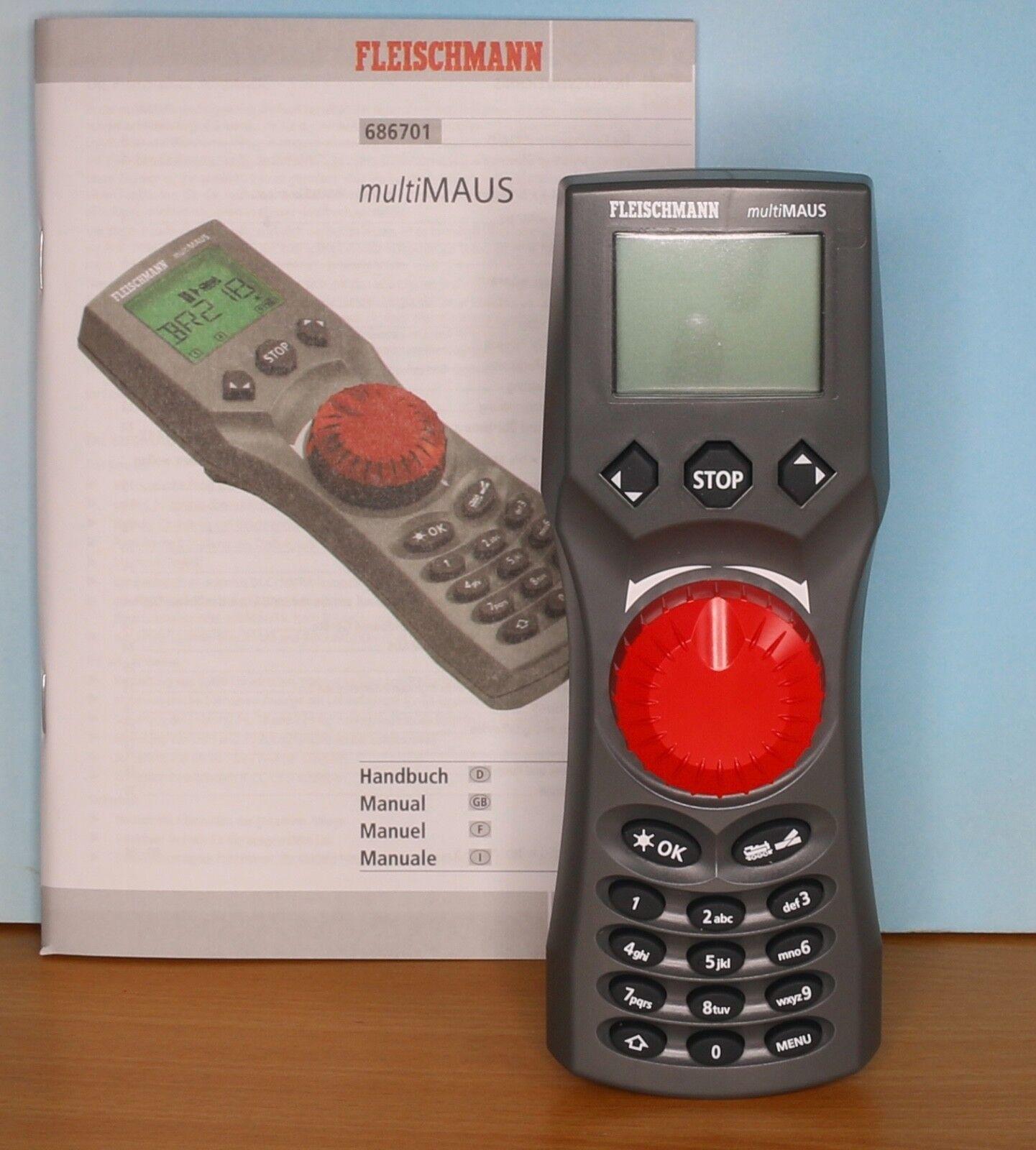 Fleischmann 686701, Traccia Z/N/TT/h0, DCC mano REGOLATORE Multi Mouse + Cavo