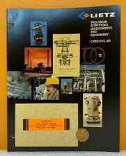 Lietz 1982 Surveying Instruments And Equipment Catalog 100