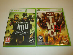 Army-of-Two-40th-Day-amp-Devils-Cartel-Xbox360-in-Very-Good-Condition-Free-Ship