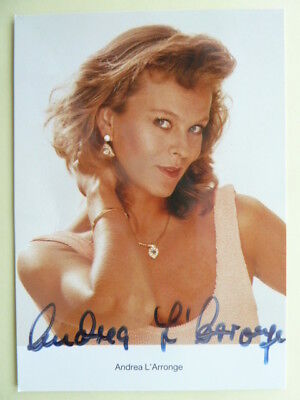 -ah- Andrea L'arronge, Rüdel Autogrammkarte