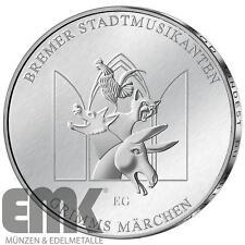 Deutschland - 20 Euro 2017 - Die Bremer Stadtmusikanten - Silber in Stempelglanz