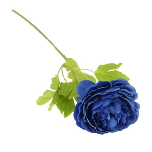 Artificial Peony Rose Silk Foral Stem Wedding Flower Arrangement Decor 7 Colors