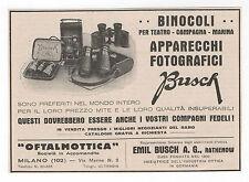 Pubblicità epoca 1938 BINOCOLI BUSCH FOTO advertising werbung publicitè reklame