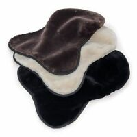 Shires Cream Black Brown Supafleece Faux Sheepskin Seat Saver 5234