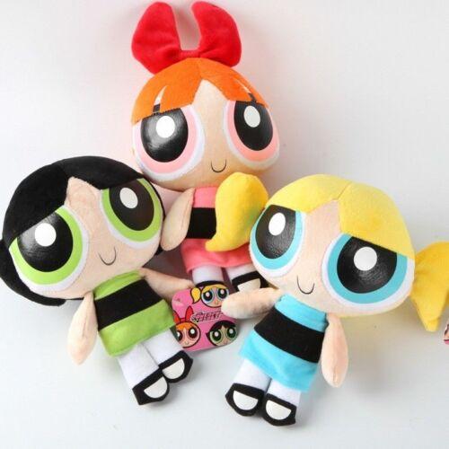 "The Powerpuff Girls 1999 Cartoon Network Plush Toy 9/"" Doll Kids Xmas Gift"