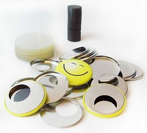 1 1 2 Quot Complete Pf Ceramic Magnet Button Parts Metal Flat
