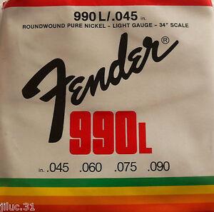 Jeu-de-cordes-basses-FENDER-990L-45-a-90-pur-nickel-guitare-basse