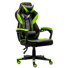 Gaming Chair Racing Leather Office Recliner Computer Desk High Back Seat Swivel