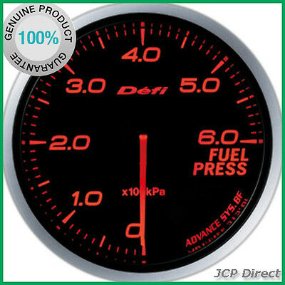 DEFI Link Meter ADVANCE BF Fuel Pressure Gauge Amber Red