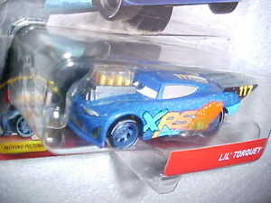 HW-DISNEY-PIXAR-CARS-DRAG-RACING-034-LIL-039-TORQUEY-034-w-MOVING-PISTONS-VHTF-NEW-CAR