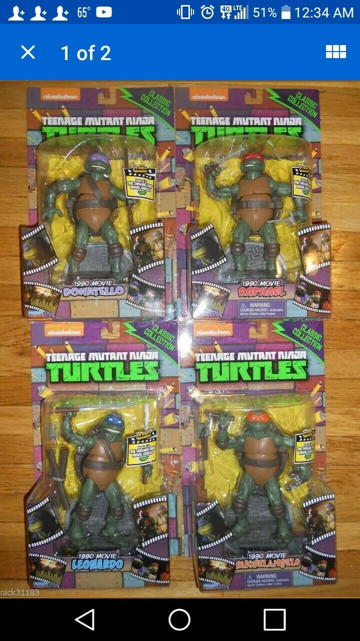 San Diego comic-con 2014 Teenage Mutant Ninja Turtles Classic Collection 6  figures 1990 Teenage Mutant Ninja Turtles