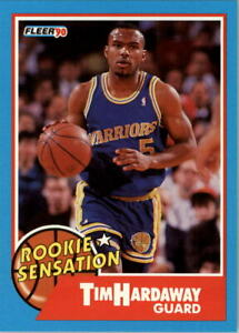 1990-91-Fleer-Rookie-Sensations-8-Tim-Hardaway-NM-MT