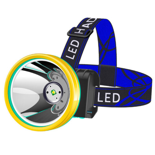 Waterproof Head Torch Headlight LED Rechargeable Headlamp Fish Camping Portable