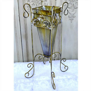 Blumenvase-Bodenvase-Pflanzgefaess-Vase-Blumenstaender-Metall-0944031-a