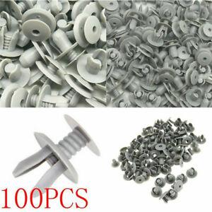 100PCS-Befestigung-Clips-fuer-VW-Transporter-T4-T5-Innenverkleidung-Grau
