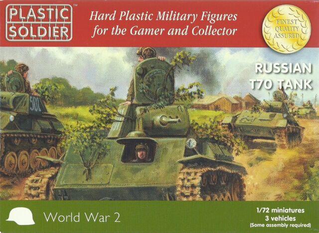 Plastic Soldier 1/72 T-70 Tanque Ligero (3 Montaje Rápido Tanques)