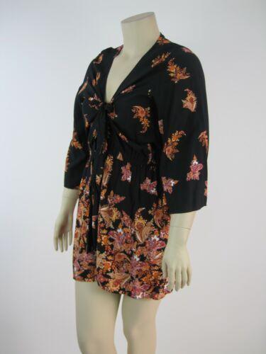 City Chic Ladies Boho Playsuit Jumpsuit sizes 16 18 20 22 Colour Black Floral
