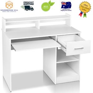 Artiss-Office-Computer-Desk-Study-Table-Workstation-Shelf-Storage-Bookcase-White