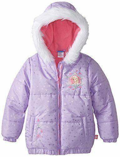 Disney Little Girls/' Frozen Glitter Snow Jacket Lilac