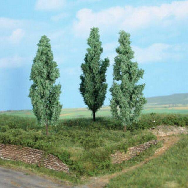 3 peupliers blancs 13 cm-HO 1/87-HEKI 1782